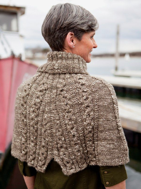NobleKnits.com - Berroco Abode Erman Cabled Capelet Knitting Pattern ...