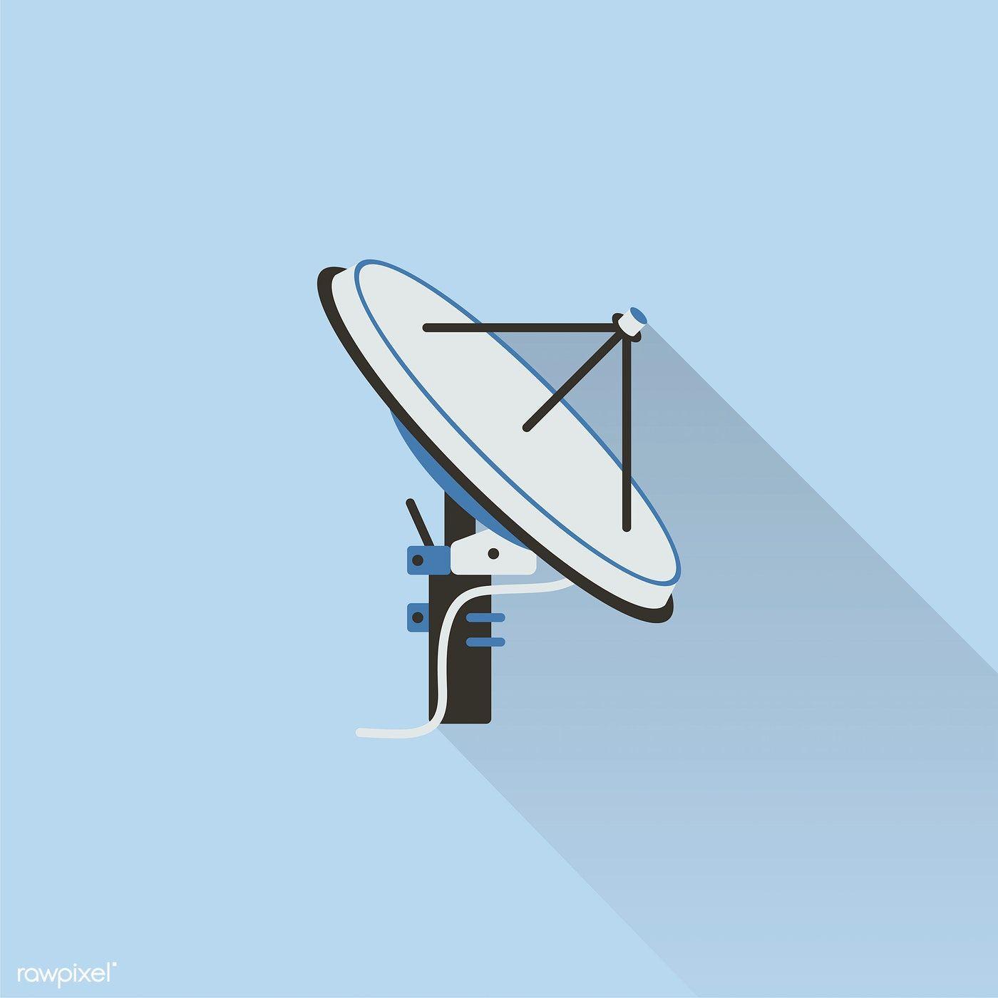 Illustration Of Satellite Antenna Free Image By Rawpixel Com Ningzk V Satellite Illustration Satellite Antenna Illustration