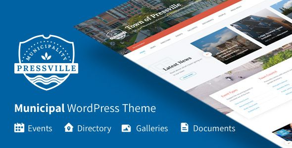 Pressville - Municipal WordPress Theme - Nonprofit WordPress