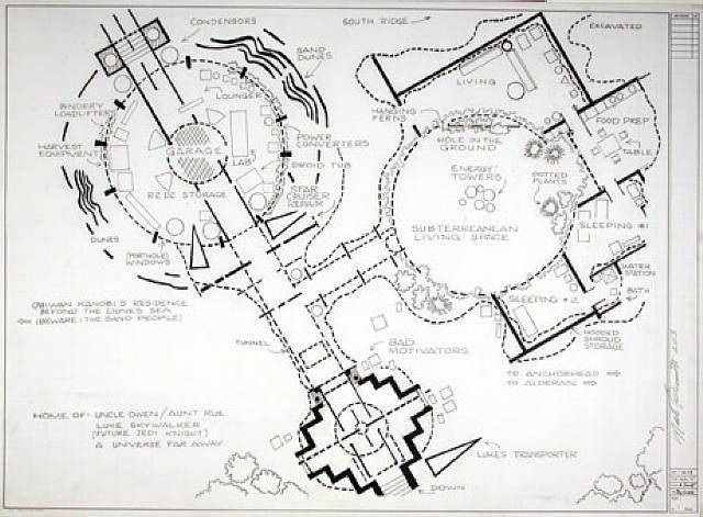 star wars tatooine mark bennett architectural representation pinterest grundriss und haus. Black Bedroom Furniture Sets. Home Design Ideas