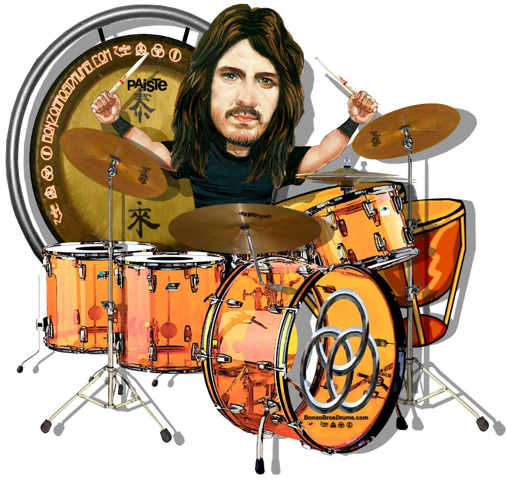 Bonzo Bros Drums Bonham S Ambiance Celebrity Caricatures Musical Art Drums Art