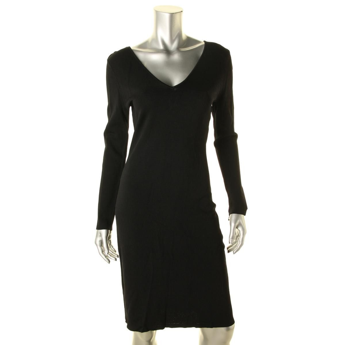 Calvin Klein Womens Lace-Up Fitted Party Dress