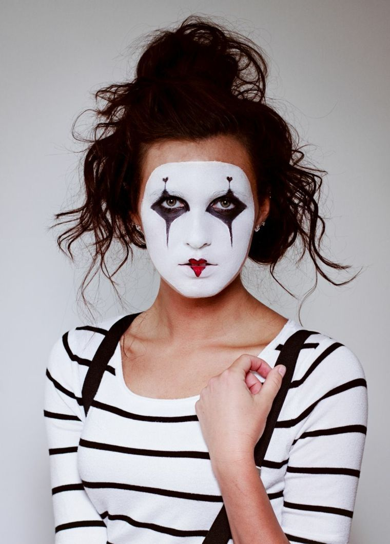 id es de maquillage facile de halloween kloes mime. Black Bedroom Furniture Sets. Home Design Ideas
