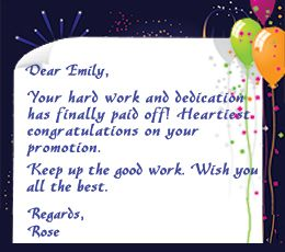 Congratulation Letter On Promotion Can Be Written By Anyone Who Wants To Congratulate An Individual For His Her