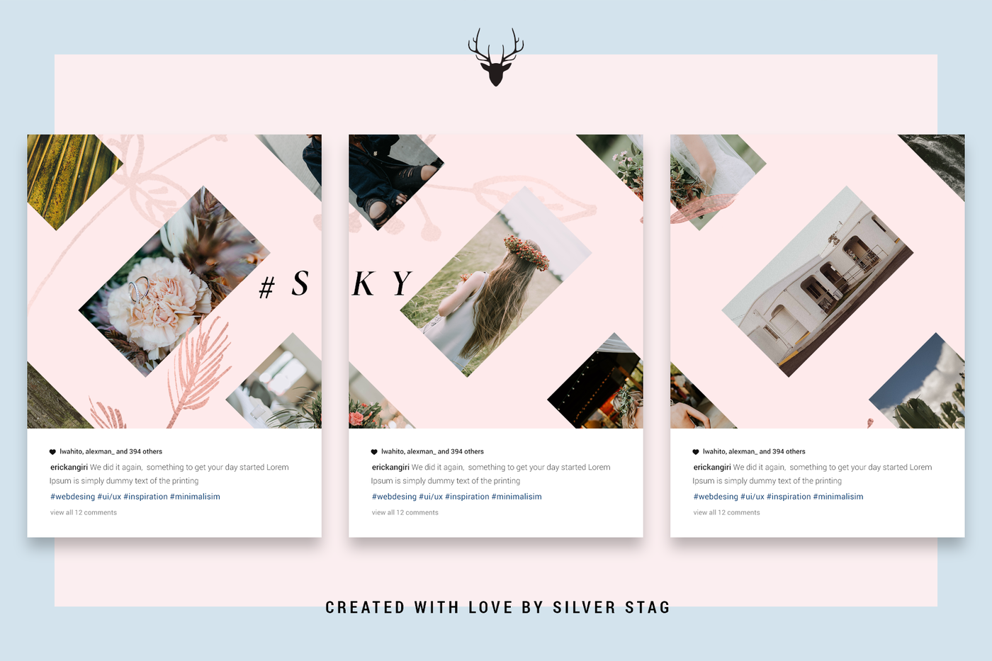 Instagrid 4 0 Instagram Puzzle Template Social Post Grid Template By Silverstag Thehungryjpeg Com Puzzle S In 2020 Instagram Photoshop Instagram Grid Instagram