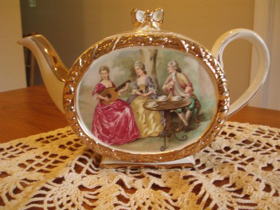 Victorian style antique tea pot by grammascottage on Etsy, $39.00