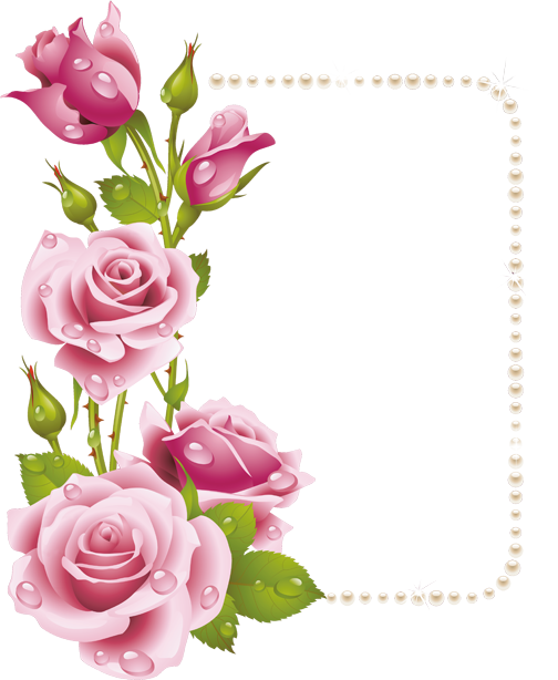 اطارات الورود 2018 سكرابز ورود للتصميم 3dlat Com 1410958937 Flower Frame Flower Border Flower Art