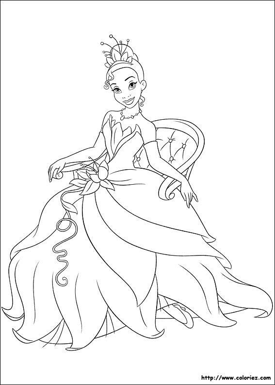 Tiana La Princesse Et La Grenouille Coloriage Coloriage De Tiana La Princesse Coloriage Princesse Coloriage Coloriage Princesse Disney