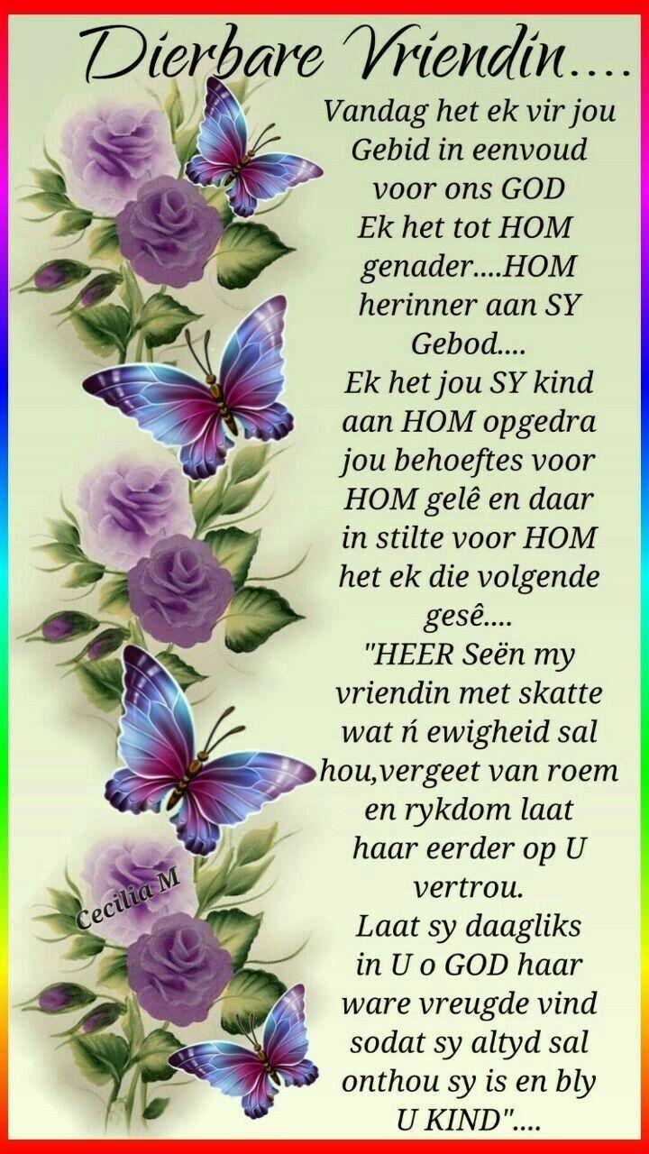 Gebed vir ń dierbare vriendin | Afrikaans quotes ...
