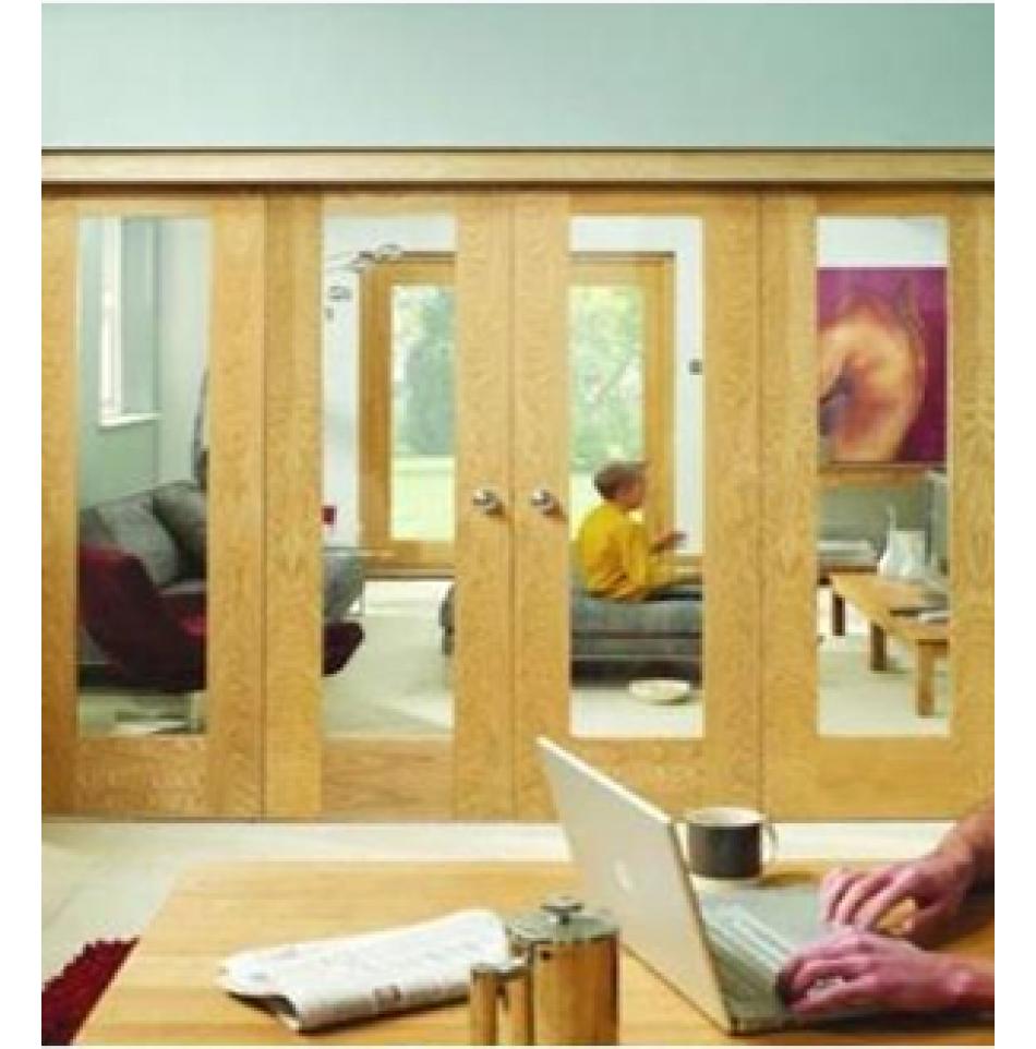 Freefold Folding Interior Oak Doors Emerald Doors & Freefold Folding Interior Oak Doors: Emerald Doors | Doors ...