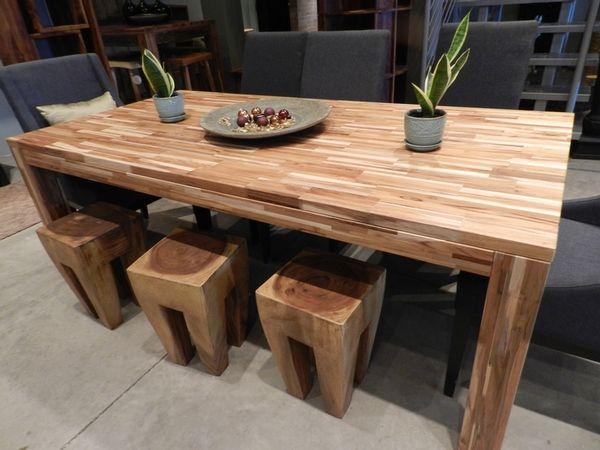 Puzzle Dining Table In Indonesian Teak Around The House - Indonesian teak dining table