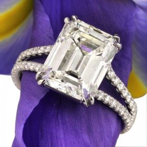 5.37ct Emerald Cut Engagement Ring | Mark Broumand