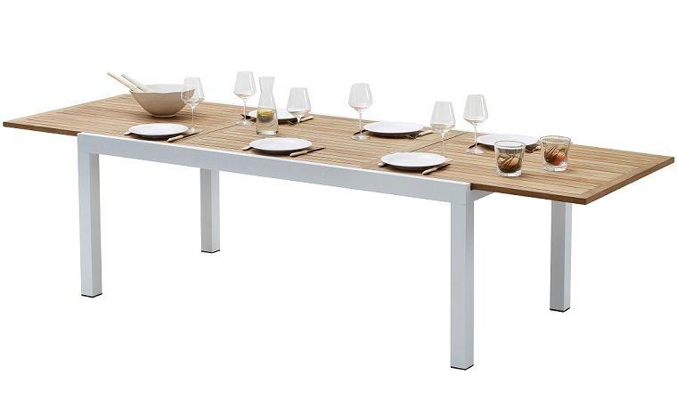 Table rectangulaire extensible 8 à 12 places/ Table de 200 à 300 cm ...