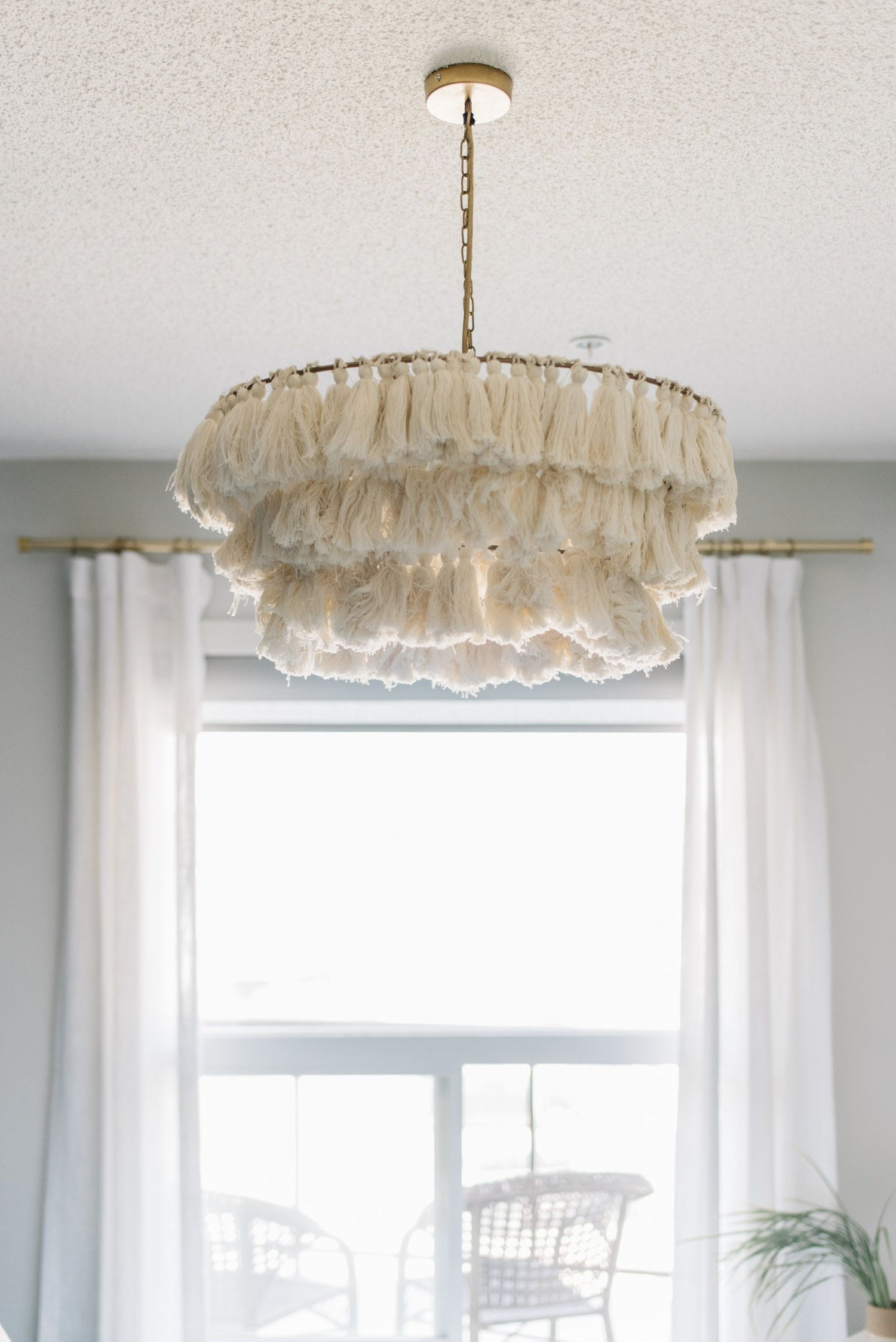 tassel light fixture, jungalow pendant  Bedroom light fixtures