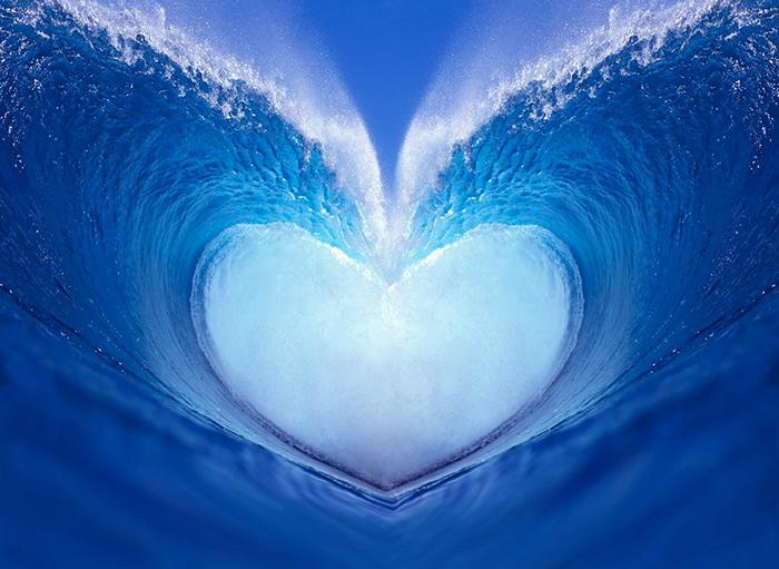 волны сердце картинки реки