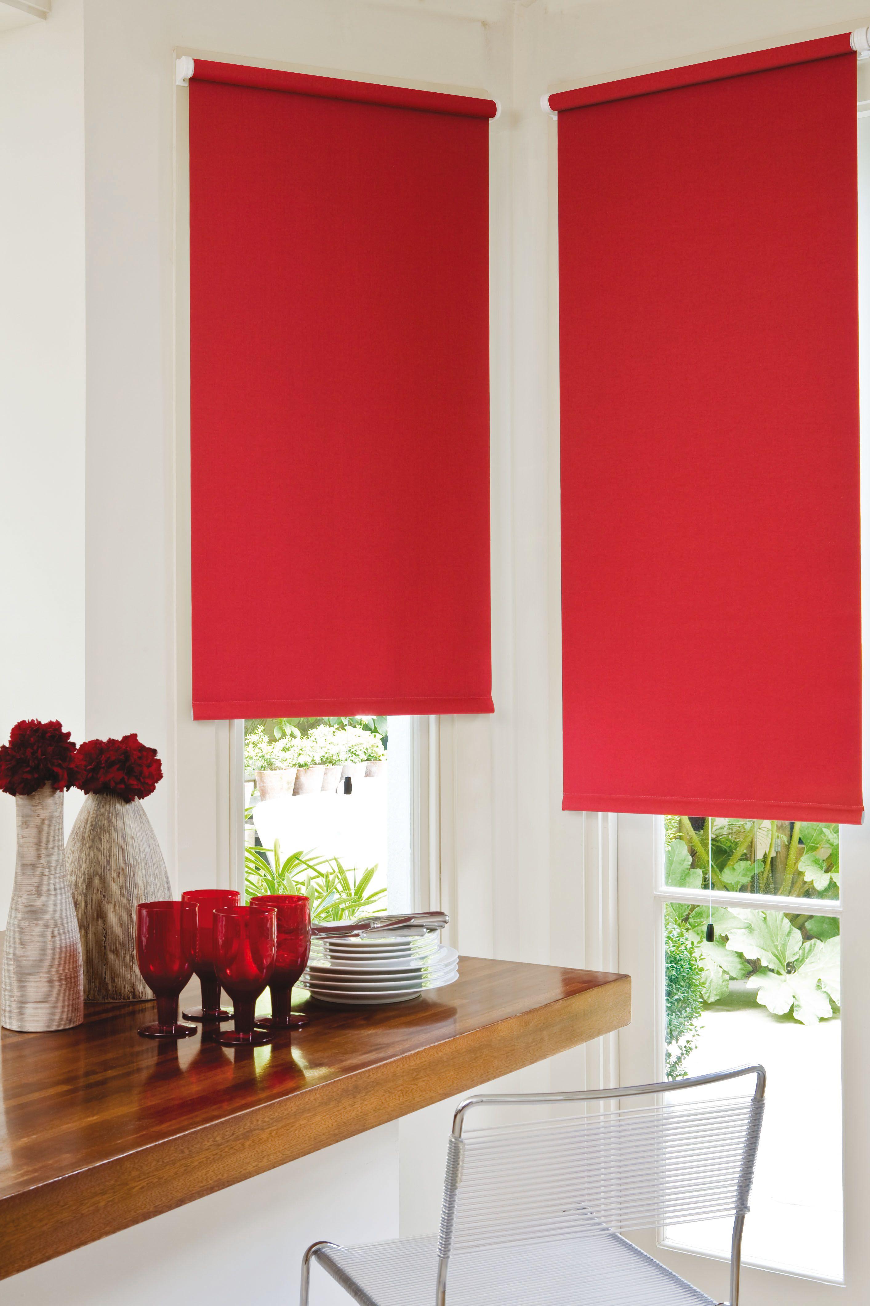 Roller blinds guesthouse pinterest kitchen curtains for Kitchen curtains and blinds