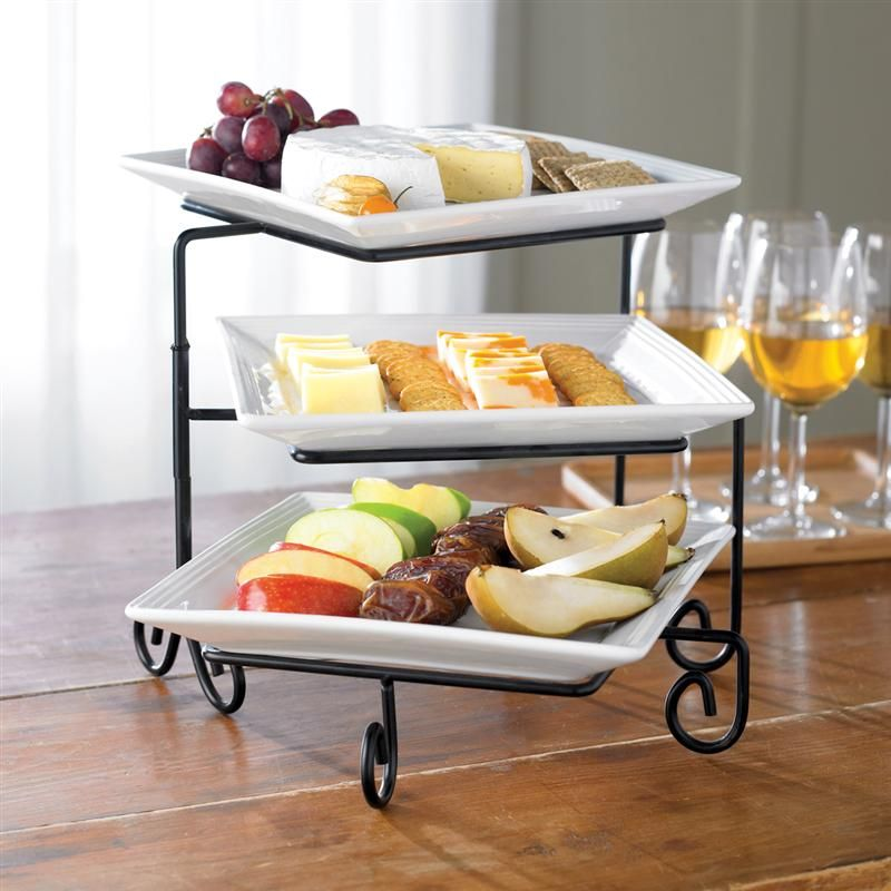 Pin By Menna Kheidr On Serving Platters Gadgets Kitchen Cooking Tiered Serving Trays Buffet Server