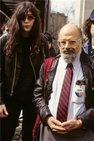 Joey Ramone and Allen Ginsberg