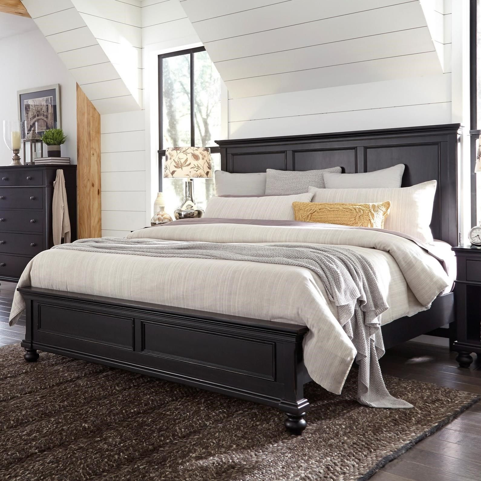oxford oakford king panel bed by highland court at morris home