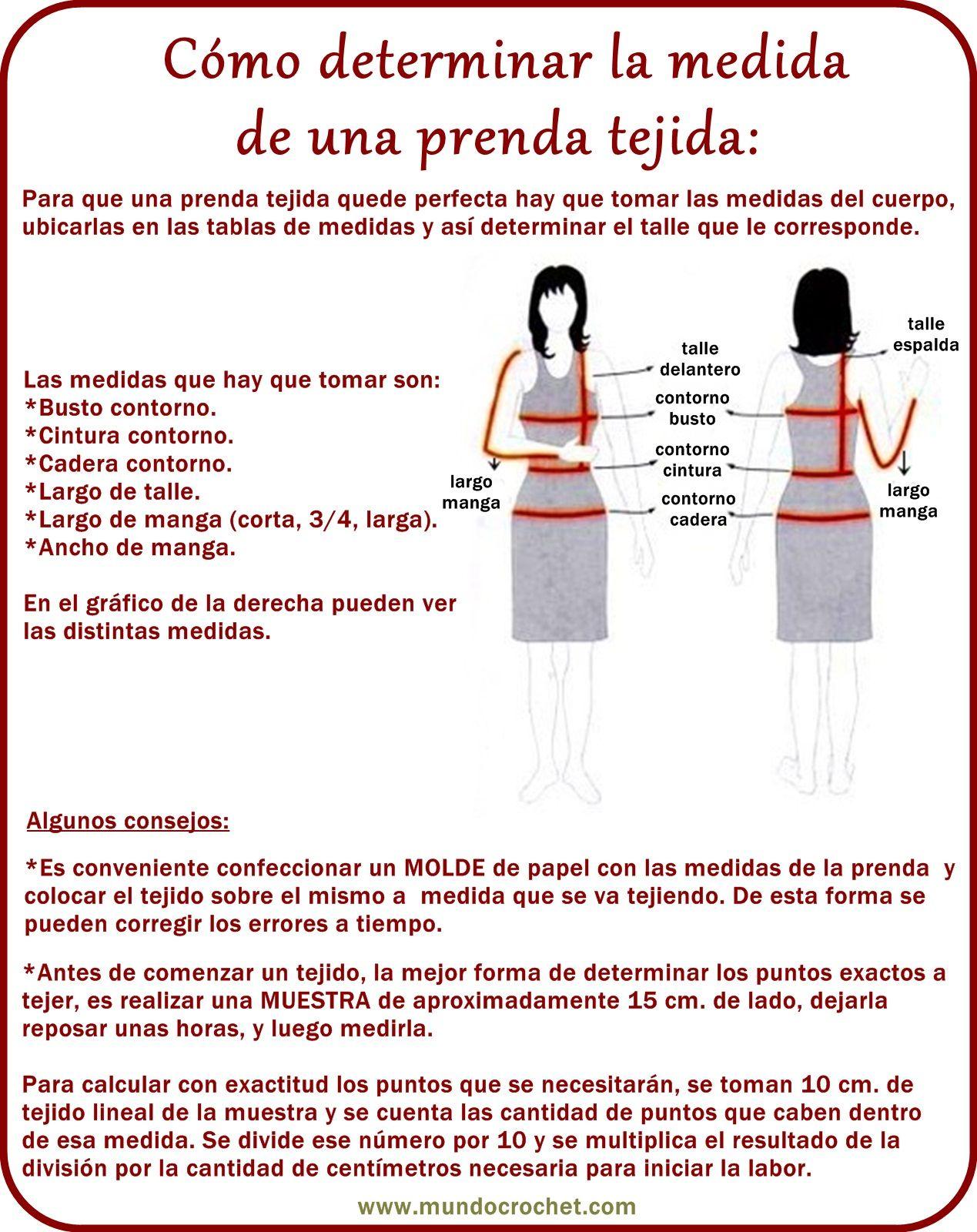 tabla de medidas tejidos ✿⊱╮Teresa Restegui http://www.pinterest ...