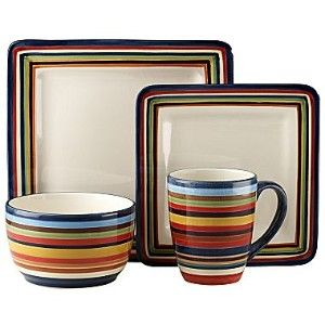 colorful square place settings | ... colorful patterns with hand-painted stripes and  sc 1 st  Pinterest & colorful square place settings | ... colorful patterns with hand ...