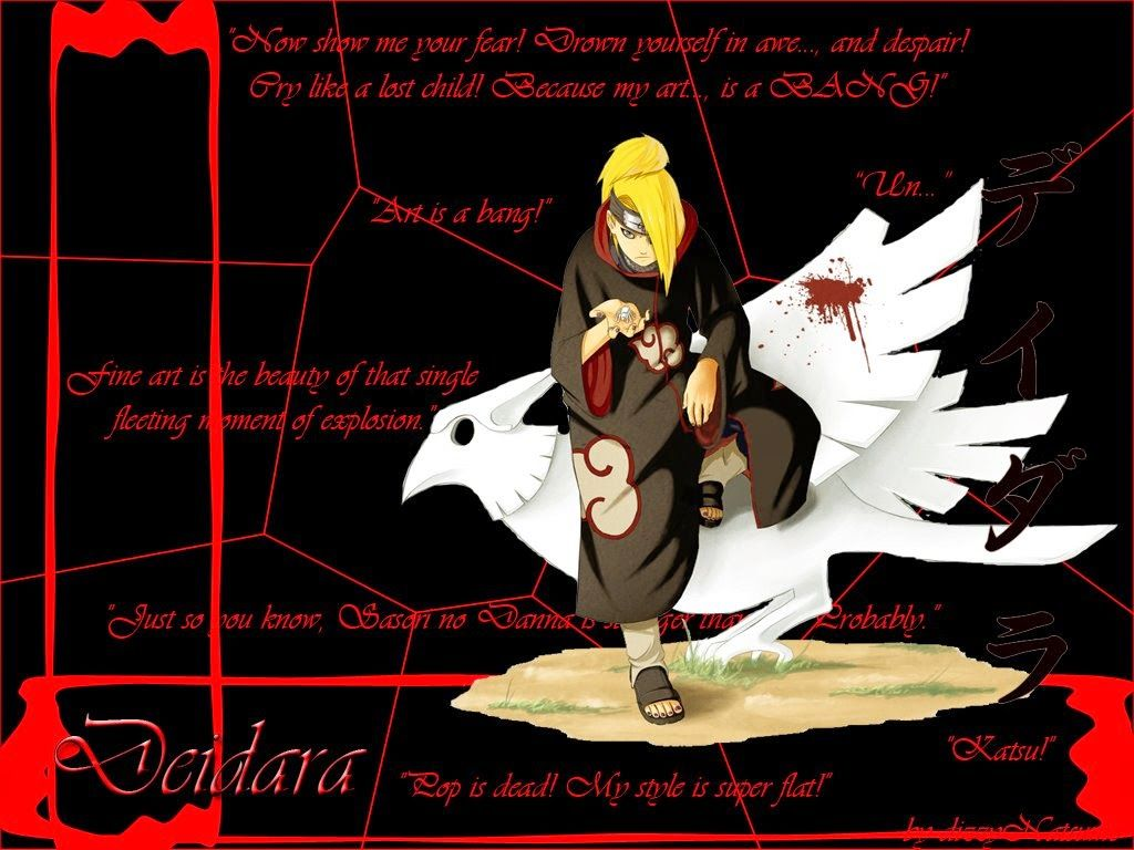 BEST NARUTO WALLPAPERS Deidara Wallpaper Http Wwwnaruto