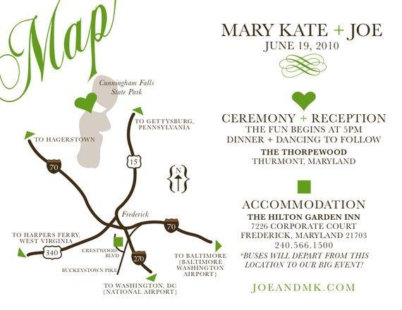 Print Map For Wedding Invitations: Wedding Map Custom Design / Printable DIY By