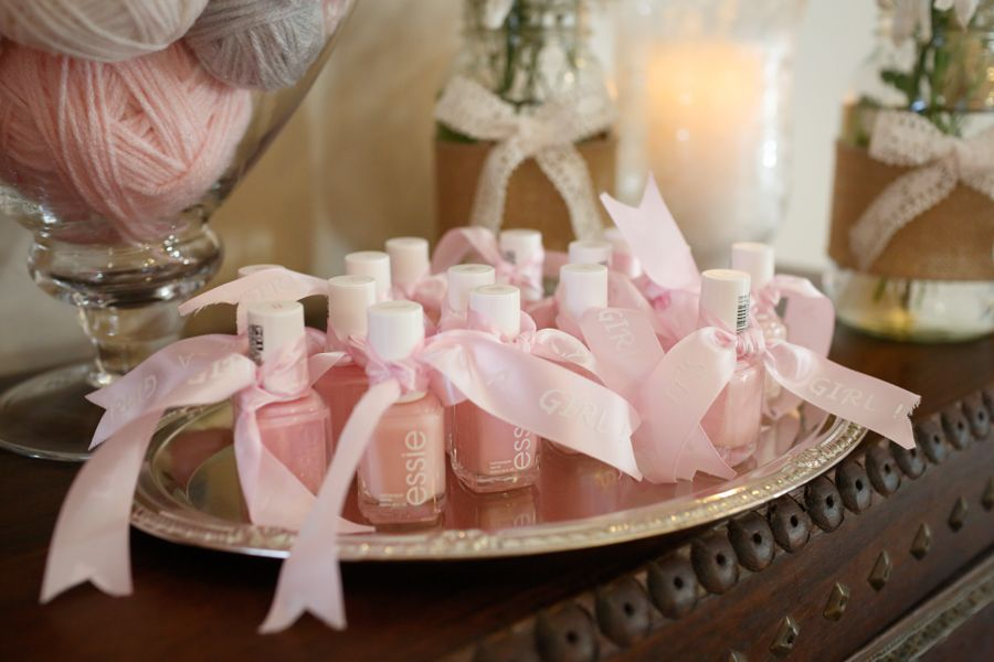 Baby Shower Favors Pink Essie Nail Polish Pinterest