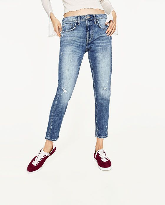 image 3 of mid rise boyfriend jeans from zara my dream. Black Bedroom Furniture Sets. Home Design Ideas