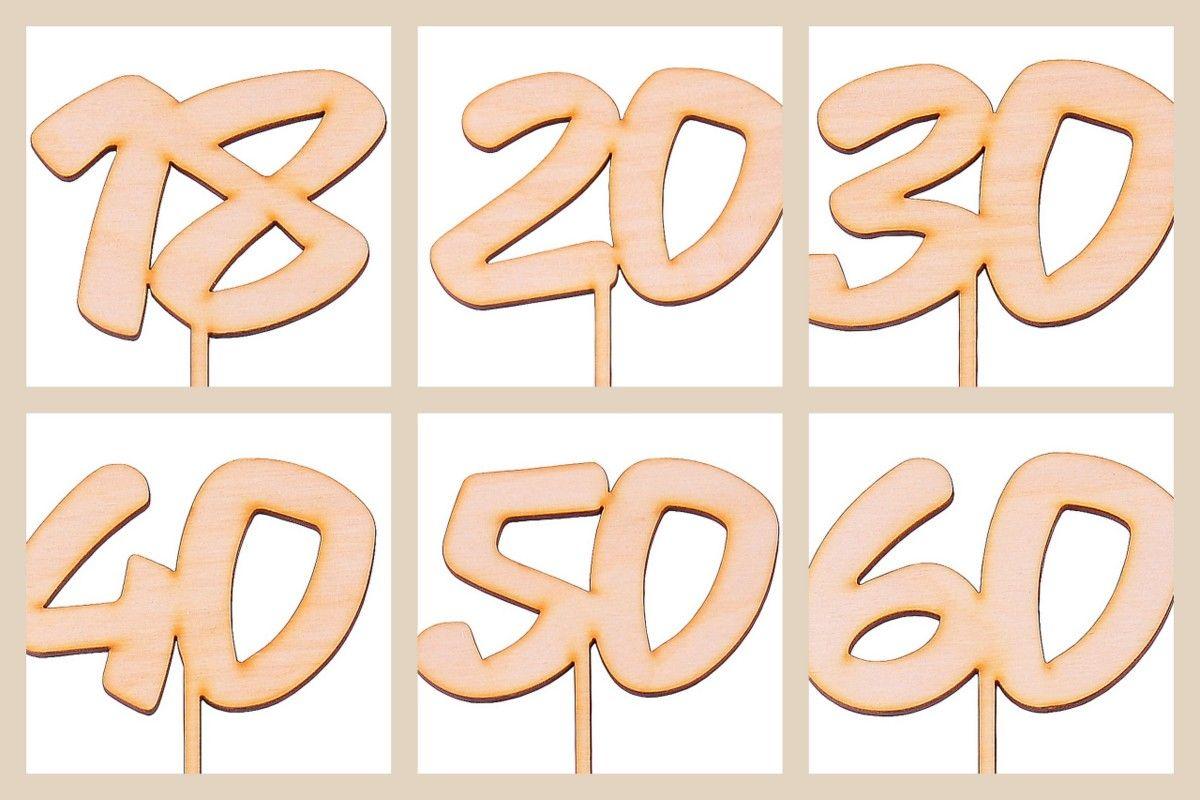 Liczby Cyfry Numery 40 Urodziny Data Dekoracje Tortu Stolu 40