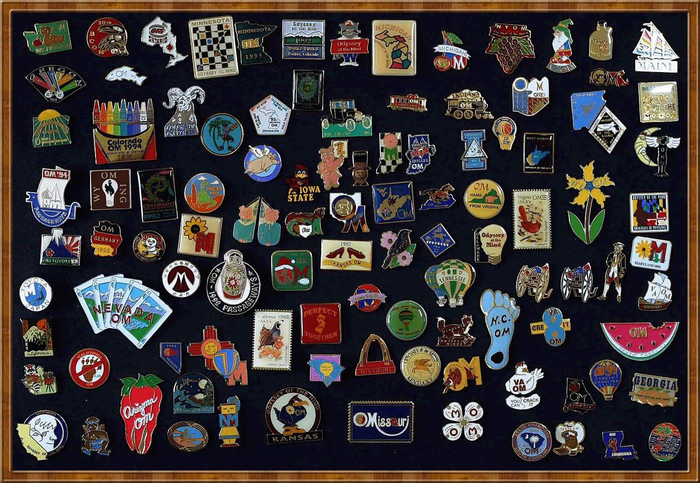 Richard Boitnott's Odyssey of the Mind Pin Collection #Pin ...