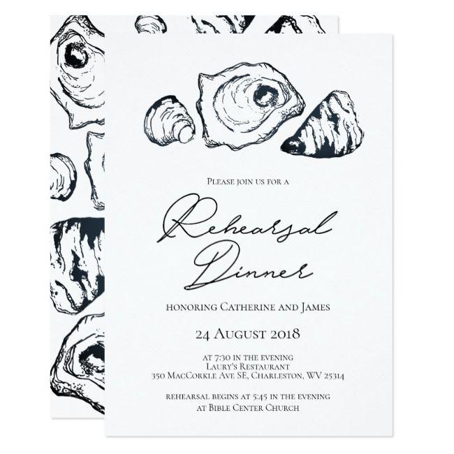 Oyster Rehearsal Dinner Invitation #Ad , #AD, #Dinner#