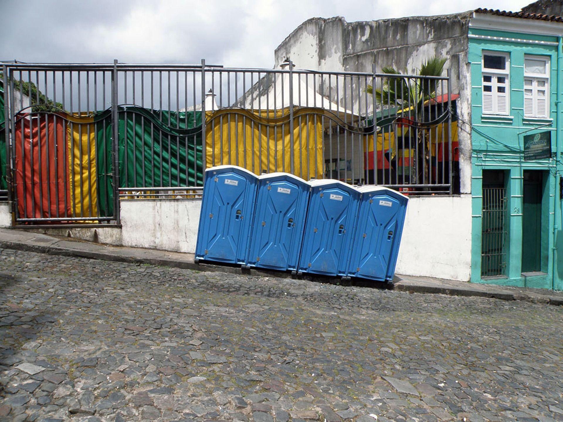 Portable toilets at construction sites portable toilet