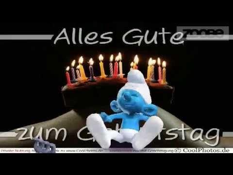 Happy Birthday Geburtstag Alles Gute Zum Geburtstag Schlumpf