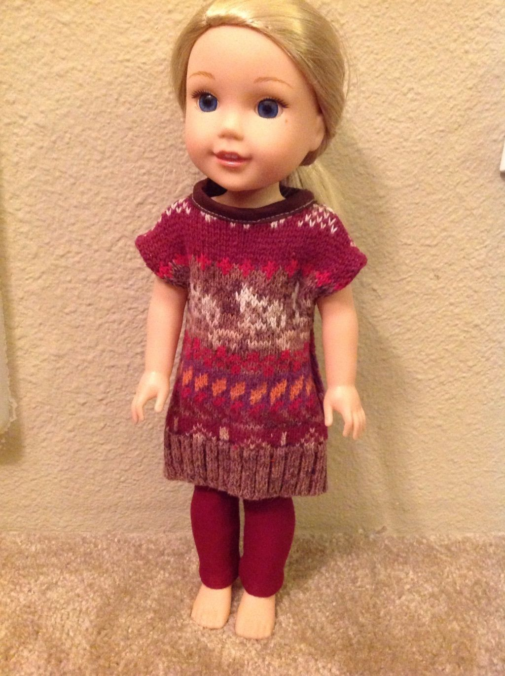 Cool Awesome Wellie Wishers Sweater Dress/Legging American Girl doll ...