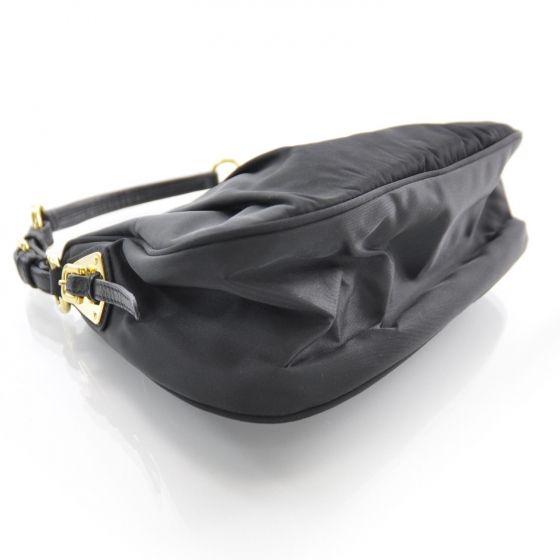 15e4349b0844 Fashionphile - PRADA Tessuto Nylon Pleated Evening Bag Black