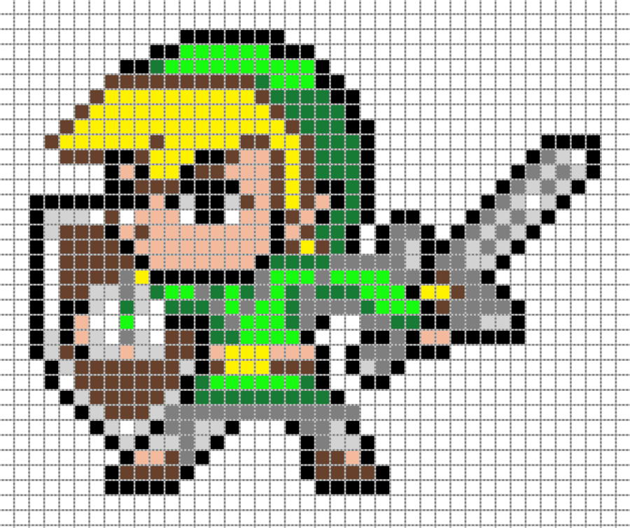 8 bit pixel art grid