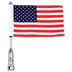 #gardens #garten Let your patriotism show on the road with the USA flag and motorcycle flagpole mount. #Features 100% 2-ply polyester flag and chrome-plated stee...