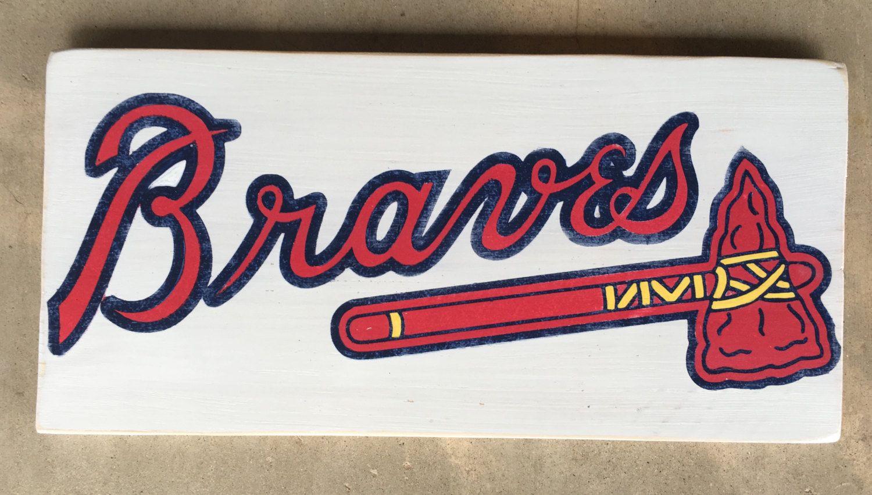 By Littlepaintedthings On Etsy Braves Tomahawk Atlanta Braves Braves