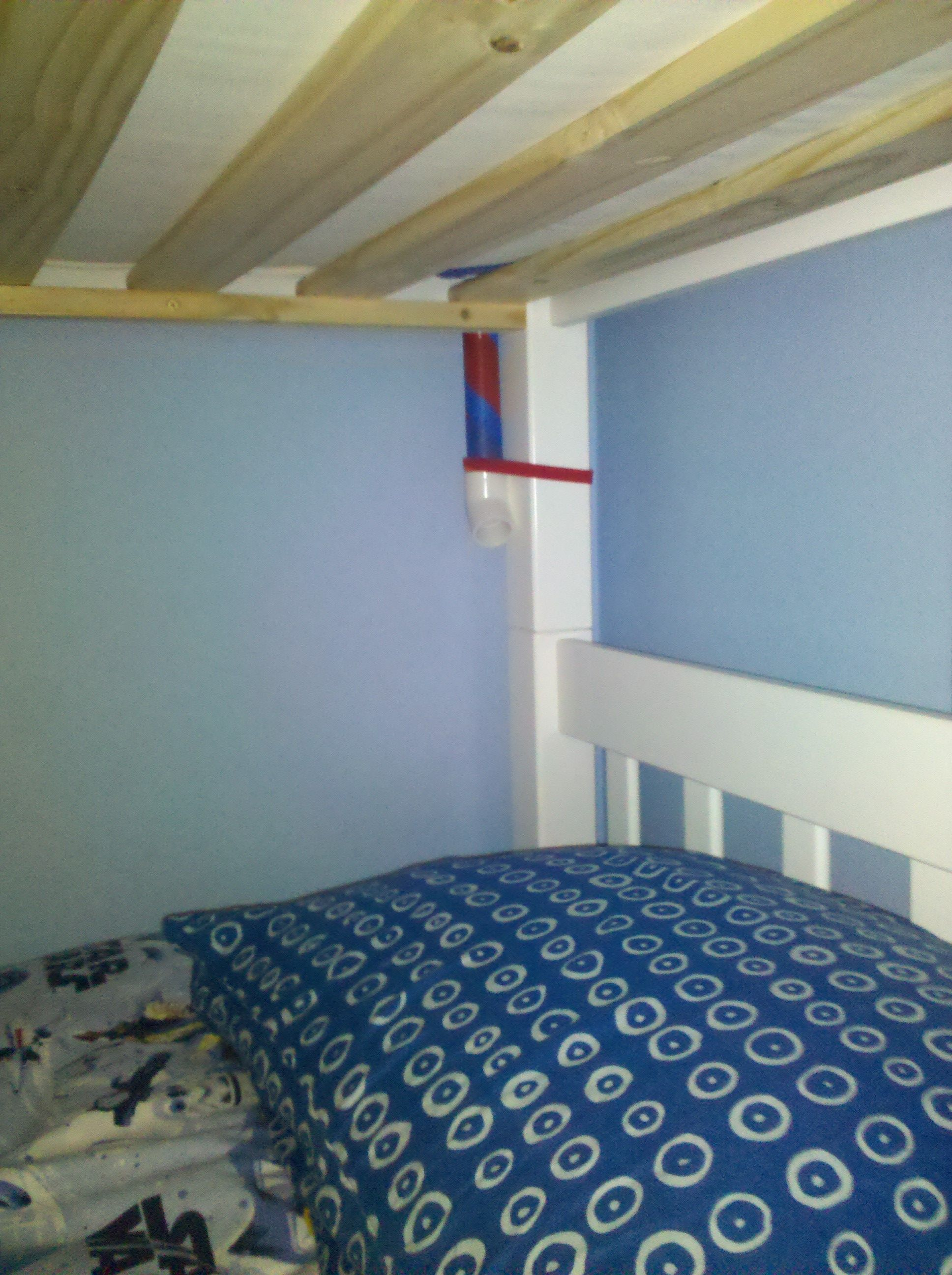 Bunk Bed Whisper Tube. Pvc Pipe Wrapped In Tape.