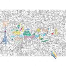 Giant Paris Colouring-in Poster