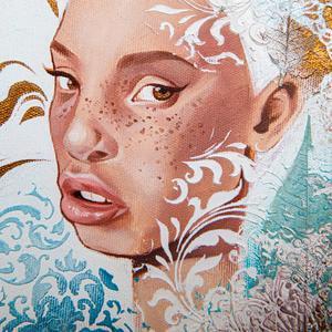 Portraitportrait Girloriginal Paintinggirl With White Etsy In 2020 Portrait Girl Fantasy Girl Elves Fantasy