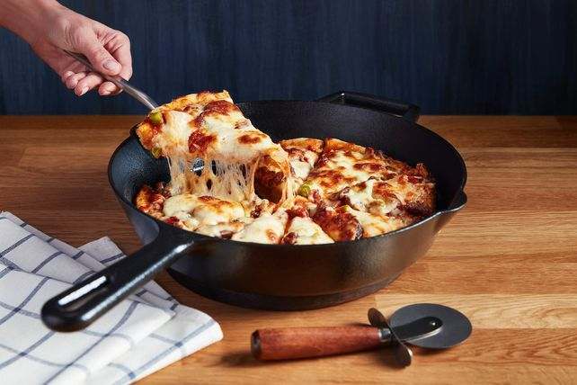 Photo of Make your day supreme with our Cast-Iron Supreme Pizza recip…