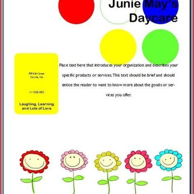 Free Daycare Signs to Print | Flyers for Any Occasion: 10 Free ...