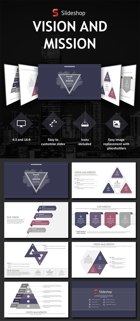 Vision and mission vision and mission powerpoint templates presentation templates toneelgroepblik Image collections