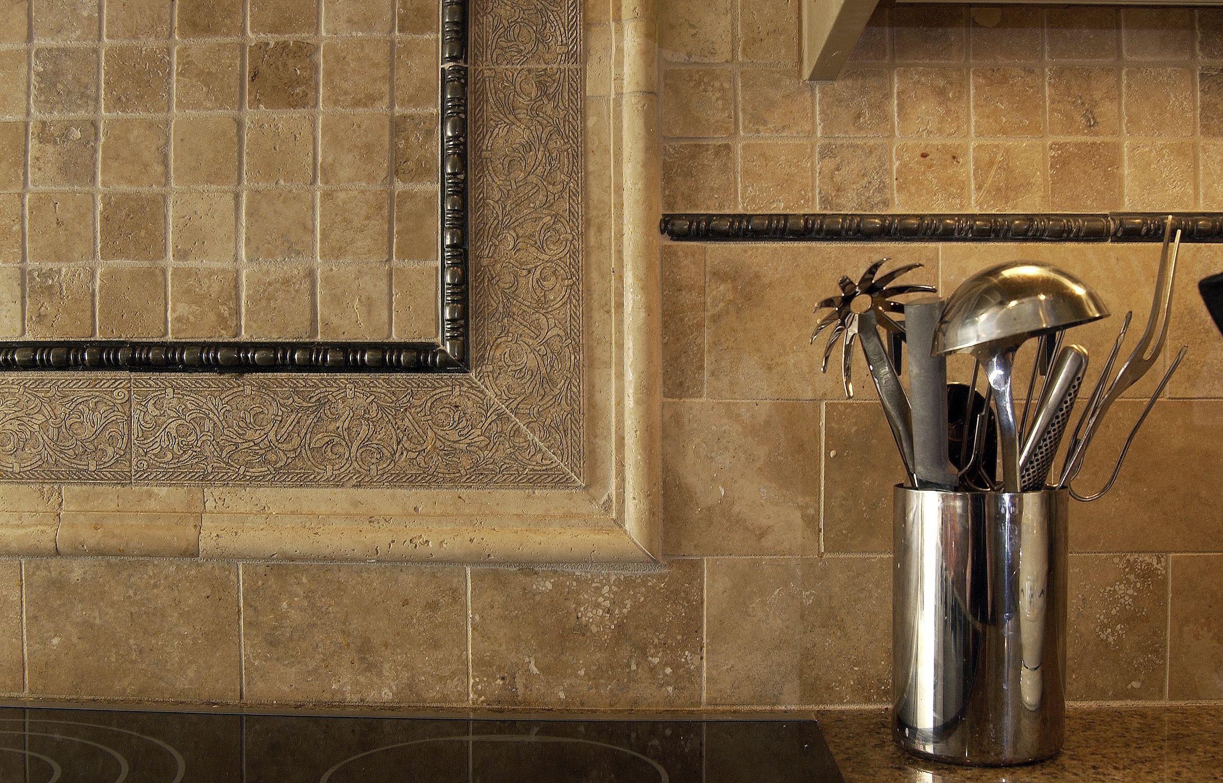 Best Images About Backsplash Design Using Stone Tile On - Kitchen backsplash design