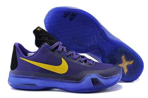 best sneakers 0ac6a 78e1a 2015 new Nikes Zoom Kobe X (10) purple black gold men basketball shoes