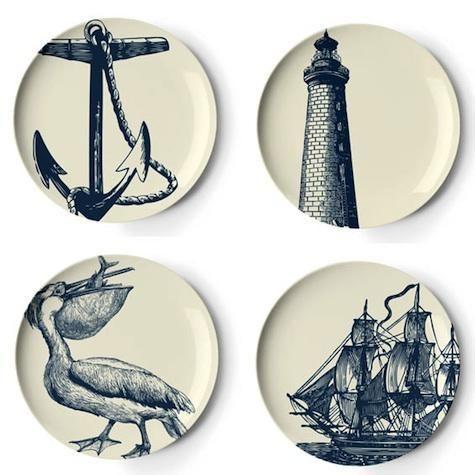 Thomas Paul Melamine Nautical Plates  sc 1 st  Pinterest & Thomas Paul Melamine Nautical Plates | Everything Nautical ...