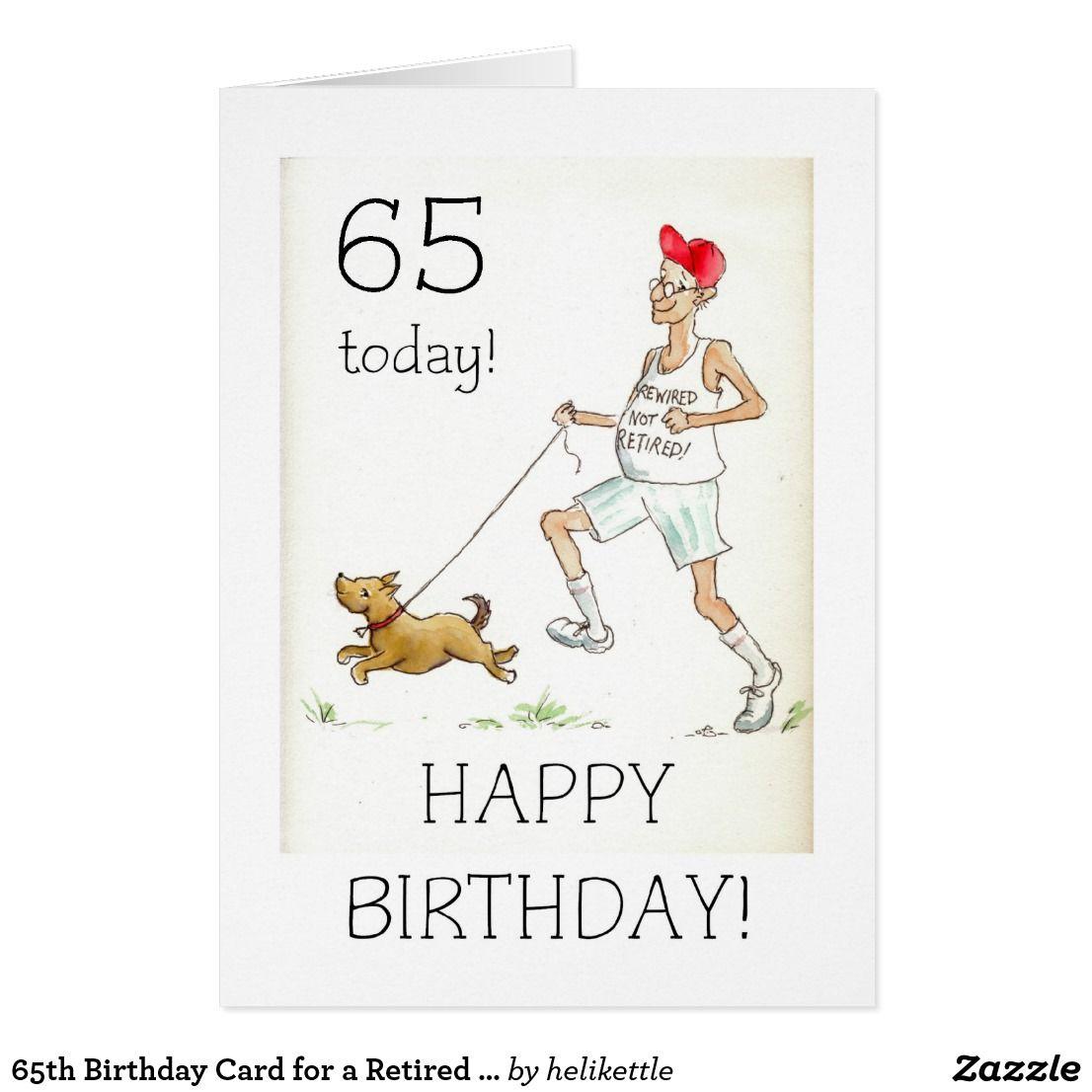 65 o Tarjeta de cumpleaños para un hombre jubilado Zazzle es Cumple tata 65 cumpleaños