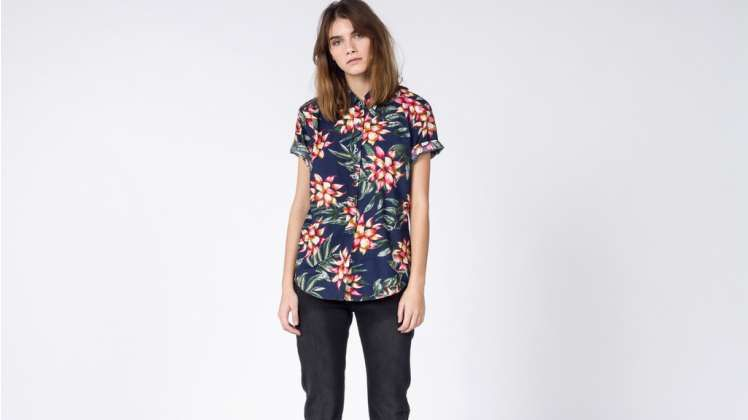 The Ultimate WF S/S Multi Colored Tropical Flowers Button Up Shirt - 1